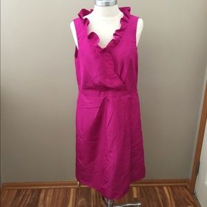 J. Crew Fucia Silk Evening Dress